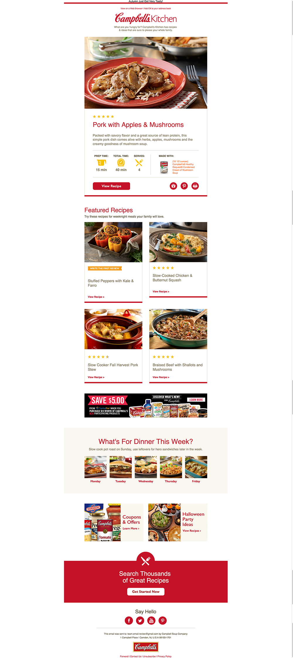 Email Analysis: Campbell\'s Kitchen |