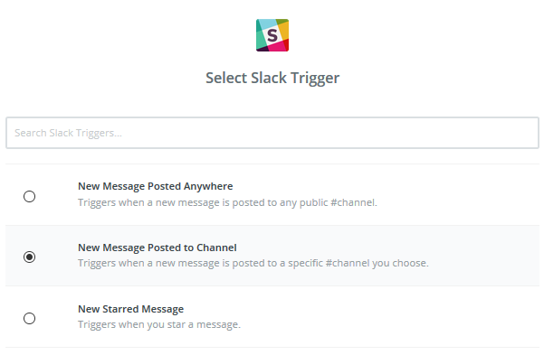 Slack options